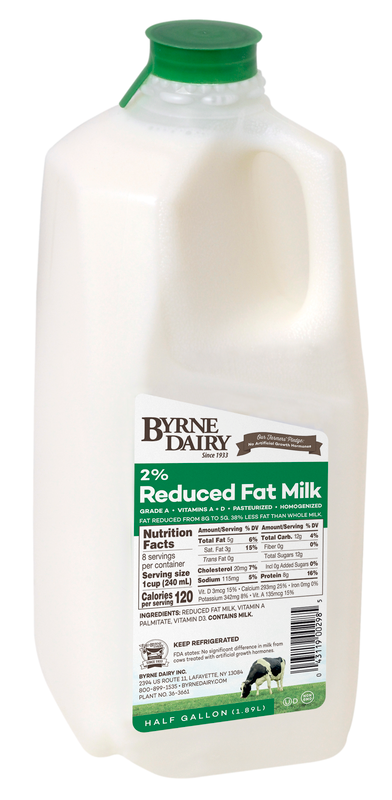 2% Milk Half Gallons
